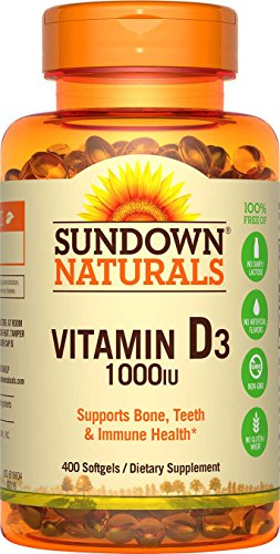 Sundown Naturals Vitamin D3 1000 IU, 400