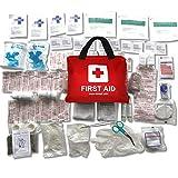 Erste-Hilfe-Set mit über 100 Teilen, für Reisen, Auto, zu Hause, Wohnwagen, Kampieren, Überleben und Arbeit. Beinhaltet Augendusche, Rettungsdecke, Kühl Akku und vieles mehr.