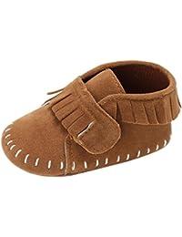 Zapatos de bebé, Xinantime Zapatos de bebé Zapato recién nacido del pesebre de la muchacha del Zapatillas suaves0-2T (0-6 Meses, Marrón)