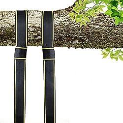 EKKONG Correas de sujeción, alta resistencia 1600 kg, para hamacas y columpios de Yoga (amarillo y negro)