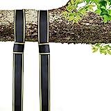 EKKONG Swing und Hängematte Hanging Gurt Kit - Zwei 1.5m Straps (Hält 1600kg,), Einfache Installation für jeden Swing oder Hängematte (Schwarz&Gelb)