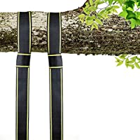 EKKONG Correas de sujeción Cinturón Accesorios de hamaca Con ganchos, Cuerdas Multifunciones Suspensión, Alta Resistencia 1600 kg, para Hamacas, Columpios, Yoga (Amarillo&Negro)