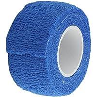 2.5cm Cinta Autoadhesiva Vendaje Primeros Auxilios Atención Médica Tobillo De Gasa Azul