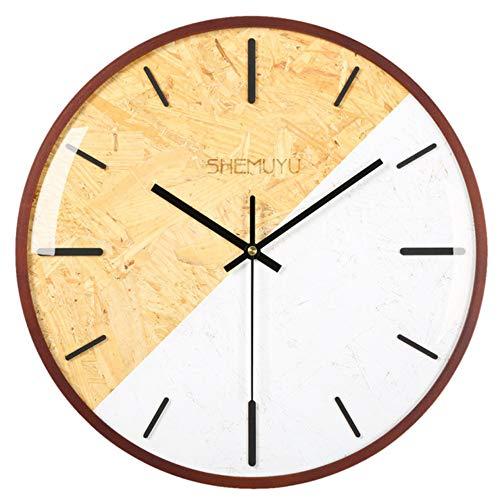 LLLYZZ 12 Zoll Nordic Style Mute Wanduhr Holz Retro Digital Style Stille Uhren Wand Büro Wohnkultur Freies Verschiffen, Type2