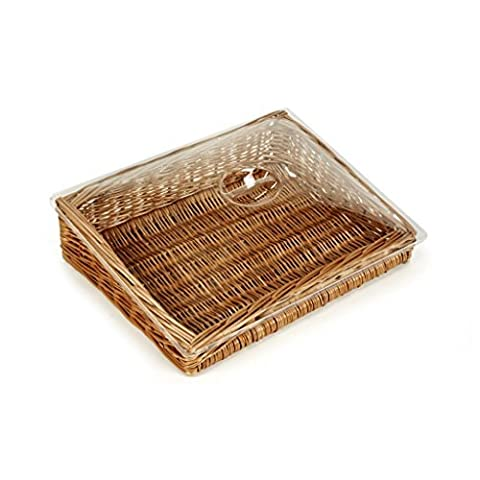 Clear Lid For Counter-Top Wicker Display Baskets 9*42*31-no baskets by Gadsby