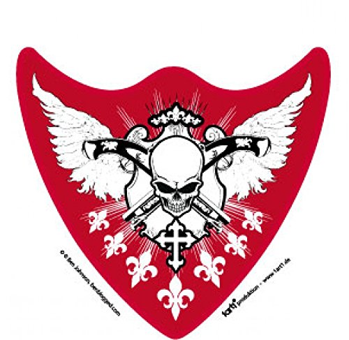 1art1 81803 Totenköpfe - Outlaw Logo Poster-Sticker Tattoo Aufkleber 9 x 9 cm
