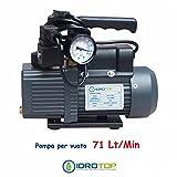 Pumpe Vakuum monostadio 71Lt. mit vacuometro und Magnetventil. idrotop