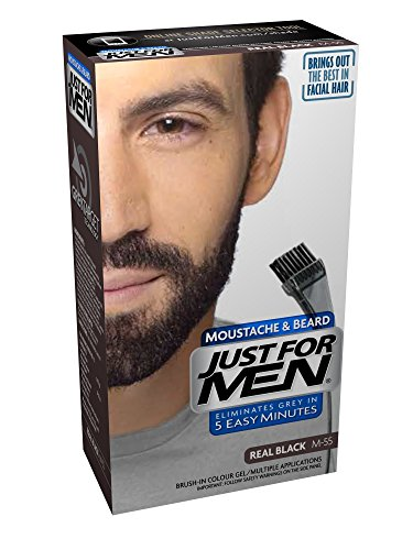 Just For Men M55 Moustache and Beard Facial Hair Color Real Black