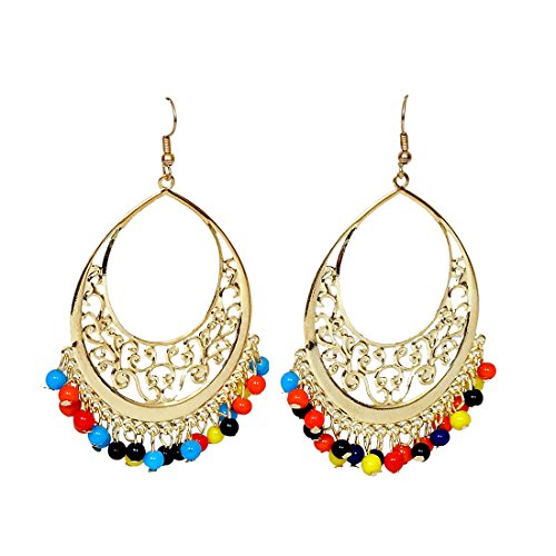 Beautiful Multicolor Beads Chand Bali Earring  available at amazon for Rs.199