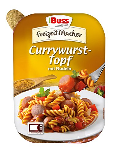 Buss Currywurst-Topf mit Nudeln, 12er Pack (12 x 300 g)