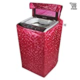 #10: E-Retailer Classic Red Colour With Square Design Top Load Washing Machine Cover (Suitable For 6 kg, 6.5 kg, 7 kg, 7.5 kg)
