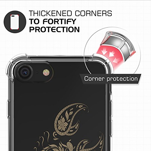 MoKo iPhone 8 / iPhone 7 Coque - [Résistant Aux Rayures] [Anti goutte & rayure] Etui Housse Series Halo Hybride avec TPU Pare-Chocs pour Apple iPhone 8 / 7 4.7 Pouces, Gris Transparent Scorpion