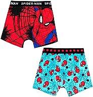 Calzoncillos tipo bóxer para niños, de Marvel Spiderman, juego de 2 piezas, algodón (2 – 7 años)