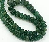 Earth Gems Park Super Fine Quality Gems Jewelry 1 Strand Natural Emerald Melon Beads, Emerald Necklace, Emerald Jewelry, Original Emerald Necklace, 5.5mm - 15mm 10' Long Code:- BF-19038