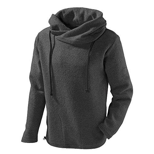 Mufflon® Damen/Herren Walk-Pullover Lucca Schurwolle Granit XL (56)
