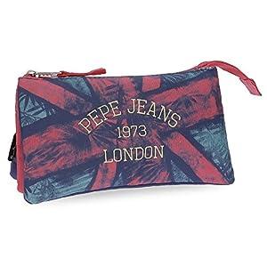 Pepe Jeans Anette Neceser de Viaje, 22 cm, 1.32 litros, Multicolor