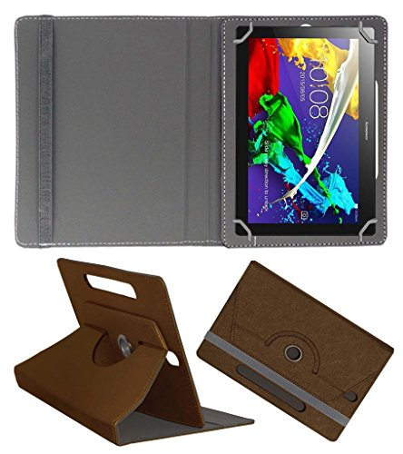 Acm Designer Rotating Case For Lenovo Tab 2 A10-70 Stand Cover Brown  available at amazon for Rs.219