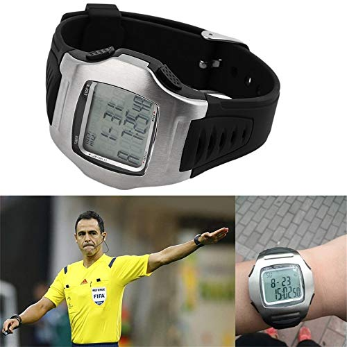 Lovelysunshiny Soccer Referee Timer Sports Match Game Wrist Watch Football Chronograph