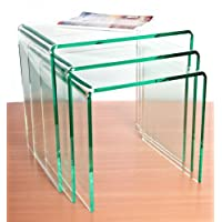 Wrights Plastics GPX Silicon (Glass Effect) Acrylic Nest Of Tables