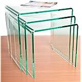 Silicona (efecto de cristal) acrílico juego de mesas encajables