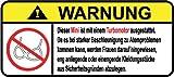 Mini Turbo Motor German Lustig Warnung Aufkleber Decal Sticker