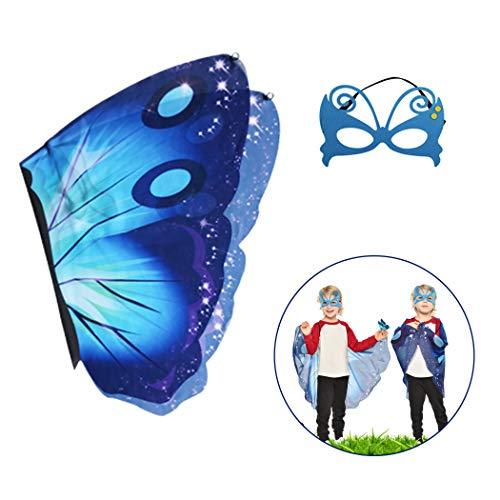 Joyibay Kids Creative Dress up Flügel Kostüm Flügel mit Maske für Party Butterfly Wing Party Decor (Kostüme Kid Creative)