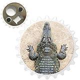 Fancy A Snuggle Krokodil von Oben Kühlschrankmagnet mit Flaschenöffner
