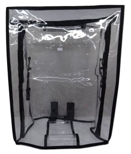 Handcuffs PVC Waterproof 28'' Protective Covers for Luggage Trolley (Transparent)