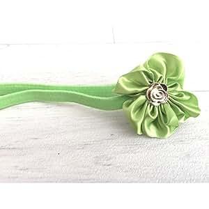 Bandeau cheveux bébé/fille, vert anis