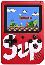 LUCRIA Sup Video Game With Battery Handheld Console Classic Retro Video Gaming Player Colourful LCD Screen USB Rechargeable Portable Game Console with 400 in 1 Classic