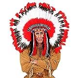 Indianer Kopfschmuck Häuptling Federschmuck Federhaube Feder Perücke Squaw Haarschmuck Western Mottoparty Kostüm Zubehör Accessoire Schmuck