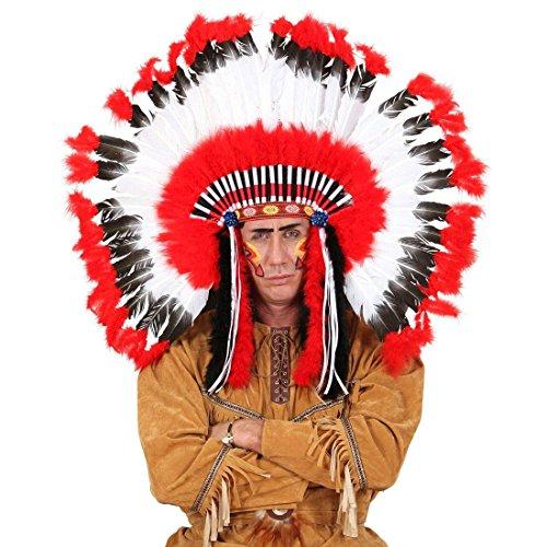 Zubehör Kostüm Perücke Indianer - NET TOYS Indianer Kopfschmuck Häuptling Federschmuck Federhaube Feder Perücke Squaw Haarschmuck Western Mottoparty Kostüm Zubehör Accessoire Schmuck
