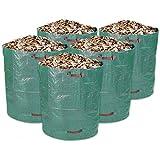 Schramm Lot DE 5Sac de Jardin Résistants 500L Vert Polypropylène Tissu PP Sac de Jardin Sac de Jardin Sacs Big Bag 500l Lot DE 5en kit