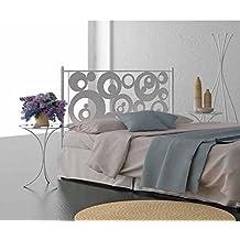 HOGARES CON ESTILO - Cabecero de Forja nacional modelo AROS para una cama de 150 cms