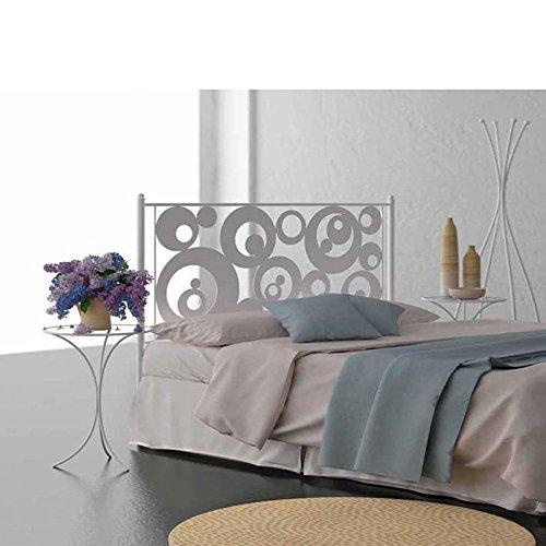 HOGARES CON ESTILO - Cabecero de Forja nacional modelo AROS para una cama de 135 cms. (Varios colores y medidas disponibles).