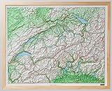 Kunststoffrelief der Schweiz: Mit Holzrahmen. 1:500000 (Kümmerly+Frey Thematische Karten, Relief) -