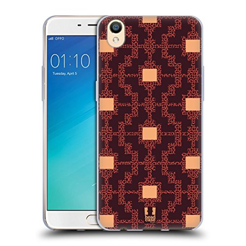 Head Case Designs Marsala Place Glam De Amazon Étui Coque en Gel molle pour Oppo R9 / F1 Plus