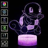 3D Lámpara de Escritorio NHSUNRAY 7 colores LED Touch lámpara de mesa con control remoto para niños...