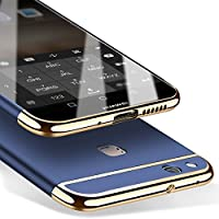 Caler Huawei P10 Lite Carcasa rígida, Antigolpes de Alta Calidad + Regalo Gratis Cristal Templado Funda PC Ultra Slim 3 en 1 antigolpes Carcasa rígida Bumper Cover (Azul)