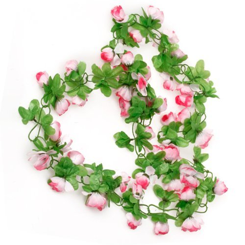 hilai picama picama Kunstblumen, Rose, Rosa, Girlande, Seidenblume, Ranken für Valentinstag, Zuhause, Hochzeit, Garten, Deko