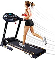 PowerMax Fitness Unisex Adult TDM-125 Semi Auto Lubricating Treadmill With Android & Ios App - Black, Gene