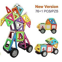 Innoo Tech Blocchi Costruzioni Magnetiche Puzzle di Legno per I Bambini Lasciate Che Il Vostro Bambino Imparare Colori e Forme Attraverso