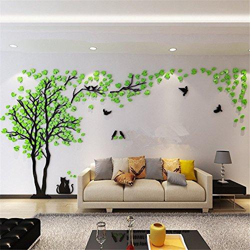 Missley family enorme cornice verde albero stickers murali photo frame sticker acrilico decorazione murale art