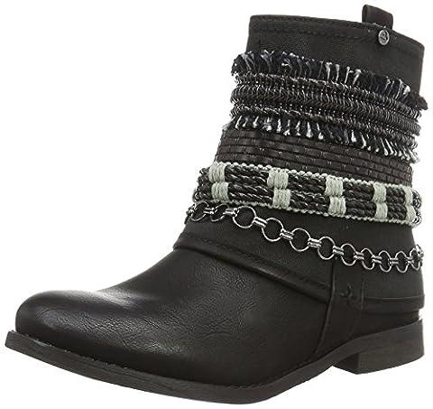 Bullboxer Damen Ankle Boots Biker, Schwarz (Black), 38 EU