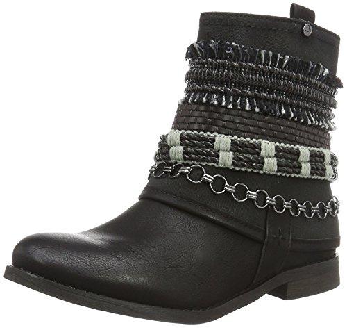 BULLBOXERAnkle Boots - Stivali da Motociclista Donna , Nero (Nero (nero)), 40