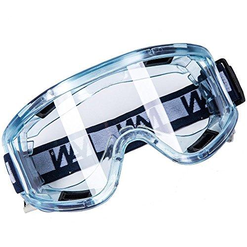 Babimax Schutzbrille Vollsichtbrille Sicherheitsbrille, Seitenschutz & Beschlagfrei & Anti-Staub & Anti-Schock, mit Verstellbarem Kopfband, Polycarbonat, für Labor, Augenschutz, Arbeitsschutz