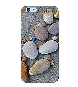 PrintVisa Cute Beach Stone Art Design 3D Hard Polycarbonate Designer Back Case Cover for Apple iPhone 6