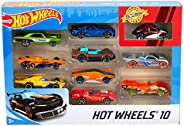 Hot Wheels - Pack de 10 vehículos, Modelos Surtidos