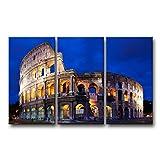 3Stück Wand Kunst Bild Colosseum in Rom Prints auf Leinwand The City Bilder Öl für Home Moderne Dekoration Print Decor
