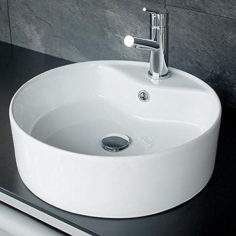 Rundes Design Keramik Aufsatz Waschbecken / Waschschale Modell 05